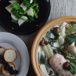 ある日の夕食から3~鶏肉と平茸、白菜のクリーム煮、他